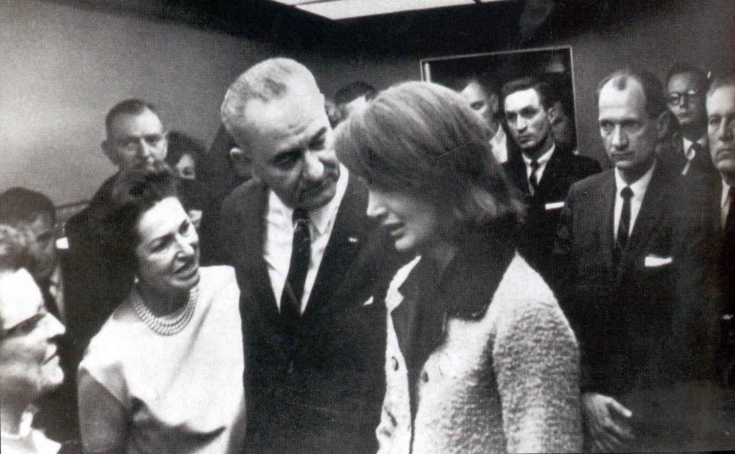 johnson sworn in iconic photos
