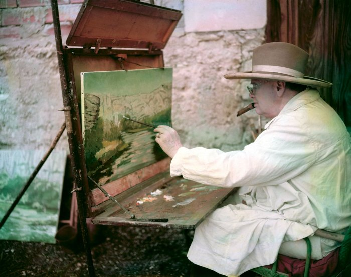 Winston Churchill Famous Painting Of Him