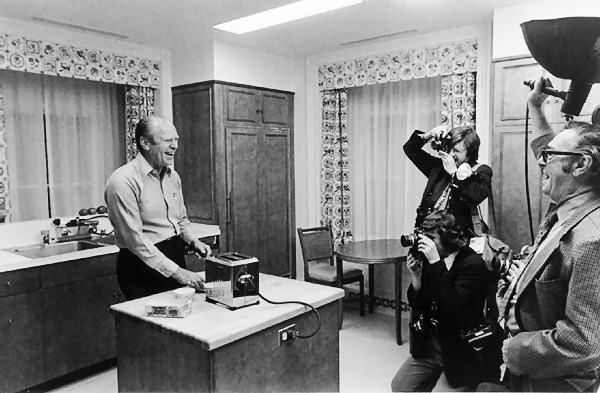 Gerald Ford And His Toaster Iconic Photos