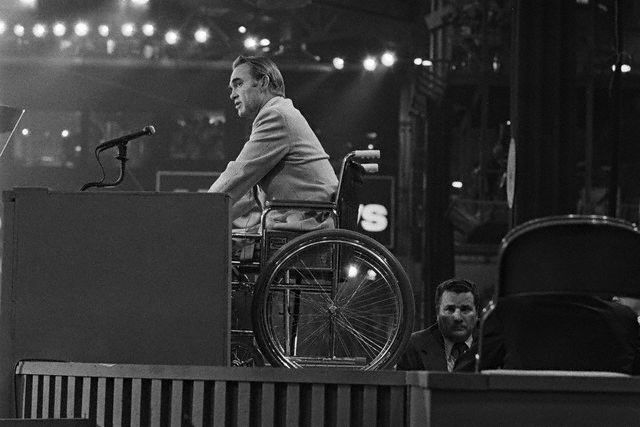 Image result for george wallace wheel chair
