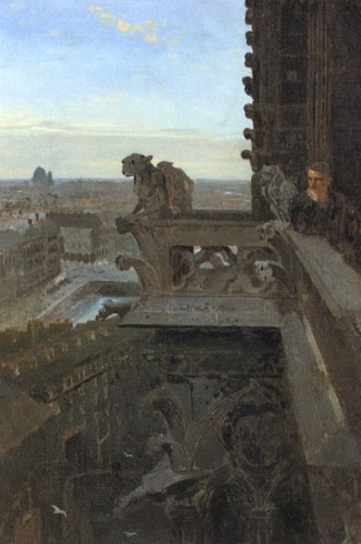 Winslow_Homer_-_Gargoyles_At_Notre_Dame_1867_os_13x19