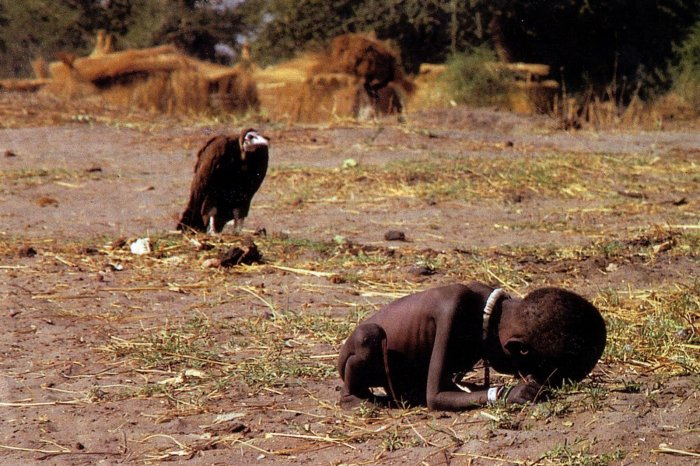 March 1993, photographer Kevin Carter, Sudan