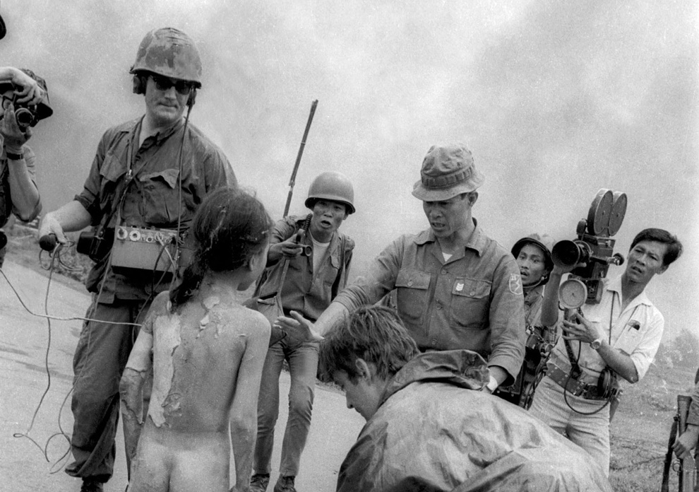 an analysis of a controversial photo take during the bombing of trang bang in 1972 Thanks to persistent propaganda, many, including npr, believe this photo of nine-year-old phan thi kim phuc fleeing while suffering from napalm burns near trang bang, vietnam on june 8, 1972 to epitomize the brutality of us involvement in the vietnam war however, in reality, this strike was a south vietnamese operation with no us.