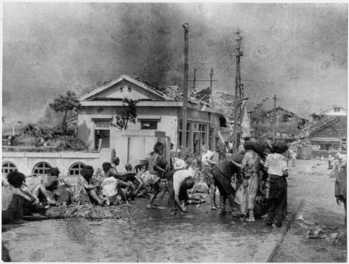the horrible day of august 6 1945 in hiroshima japan Radioactive black rain was first observed at hiroshima, japan, following the atomic blast there on august 6, 1945  the use of nuclear weapons are horrible.