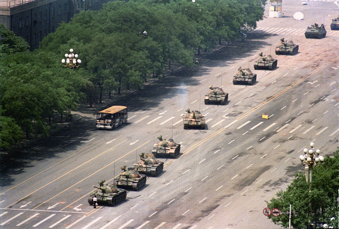Charlie Cole tank man photo